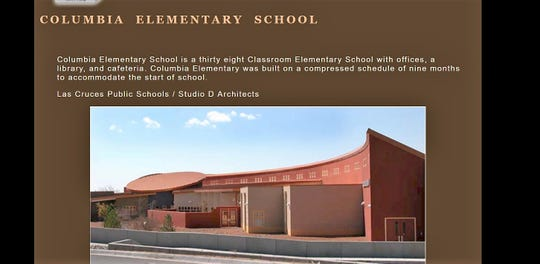 A screenshot from Wooten Construction's former website showcased Columbia Elementary School and indicated it was built in just nine months.