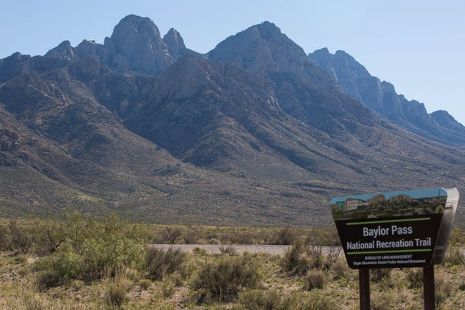 The Baylor Pass trail offers scenic views of the Organ Mountains.