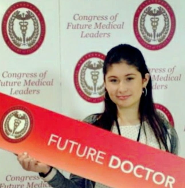 Isabella Armendariz, a ninth-grade student from Arrowhead Park Medical Academy, was recently selected to be a delegate to the Congress of Future Medical Leaders in Lowell, Mass.