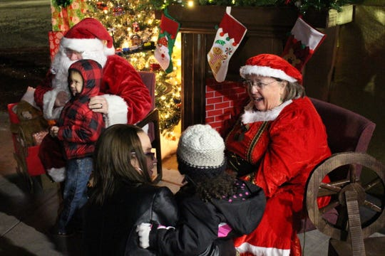 Mr. and Mrs. Clause make an appearance at the 2017 Tree Lighting, getting children excited for Christmas and wishing families well.