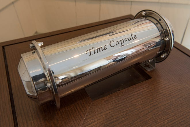 The time capsule will be buried and marked with instructions to open in 50 years.