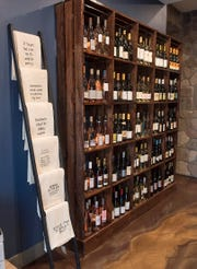 Michigan wines are on display.