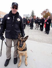 Guest speaker was Philip Weithauf, a U.S. Army veteran and president of the Michigan War Dogs Memorial.