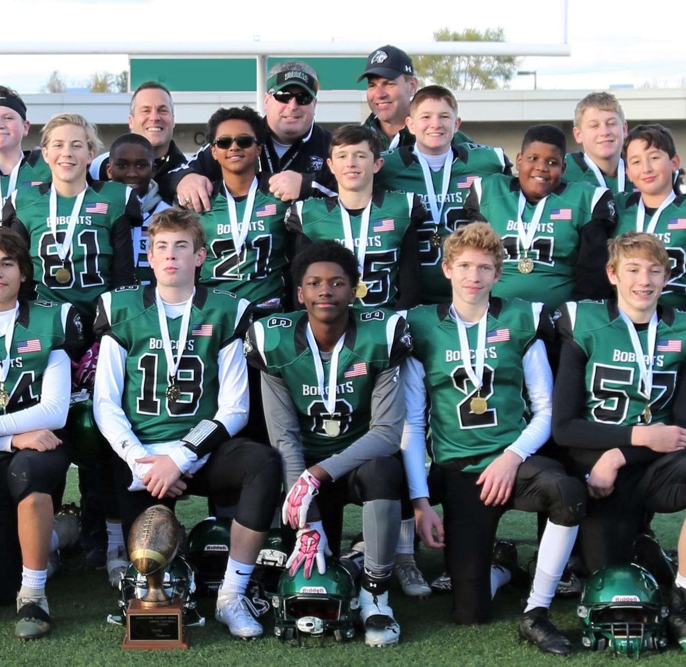 Novi Bobcats wear Livingston County Junior Football varsity crown
