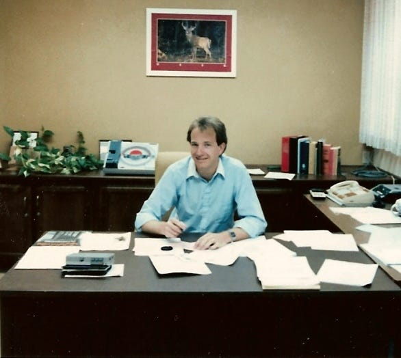 Wade McKinney as city manager in Shafter, California in the early 1980s.