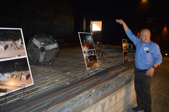 CVRep Playhouse Project Manager Rick Hawkins leads a tour of the new theatre.