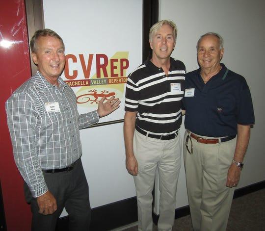 CVRep Chairman Emeritus Gary D. Hall with Carl Gilmore and Michael V. Smith.