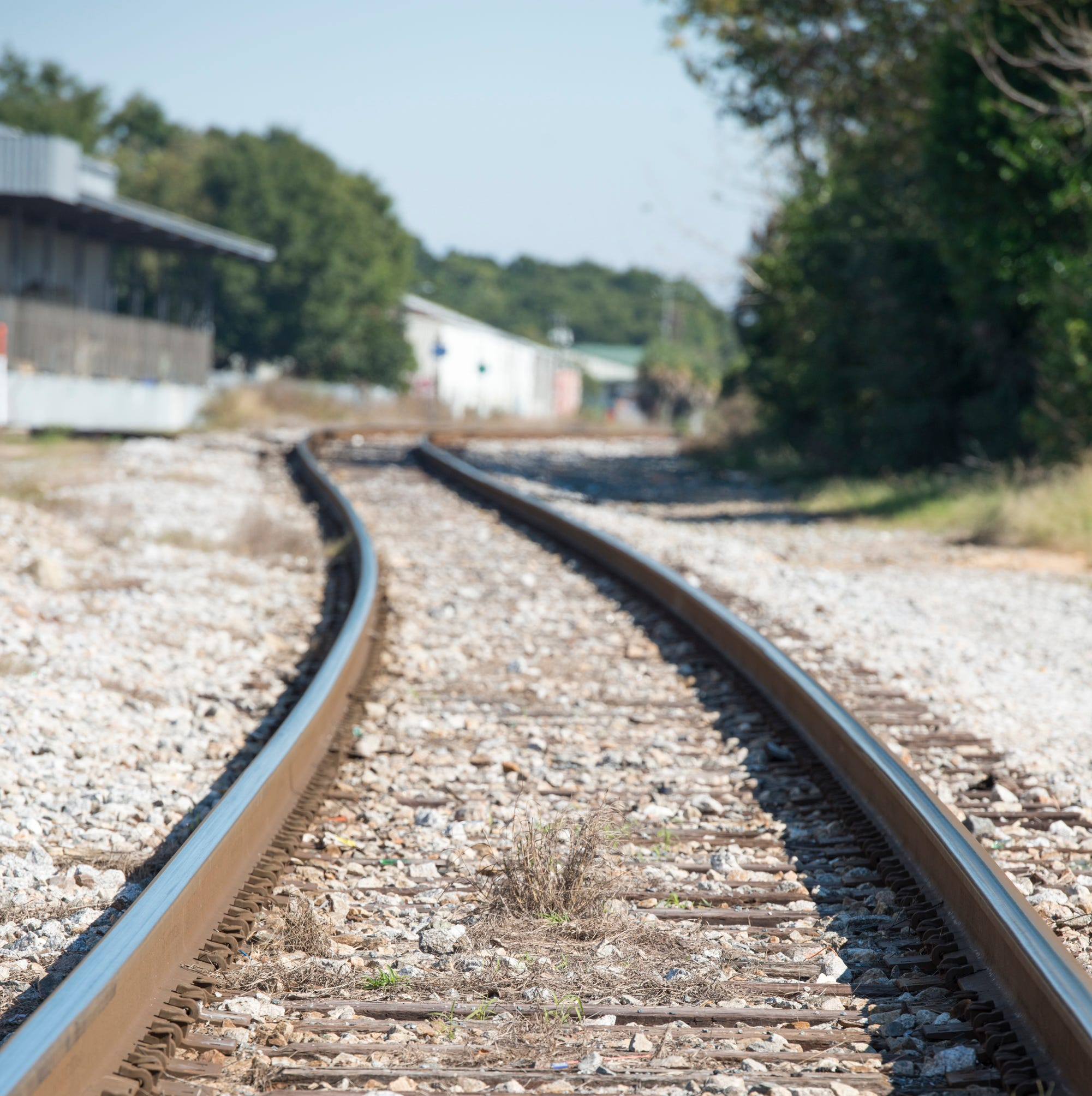 Railroad tracks running parallel to East Wright Street in Pensacola on Thursday, November 15, 2018.  CSX plans to sell 373 miles of track between Pensacola and Jacksonville to Florida Gulf and Atlantic Railroad, a subsidiary of Boca Raton-based Rail USA.
