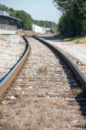 CSX railroad tracks.