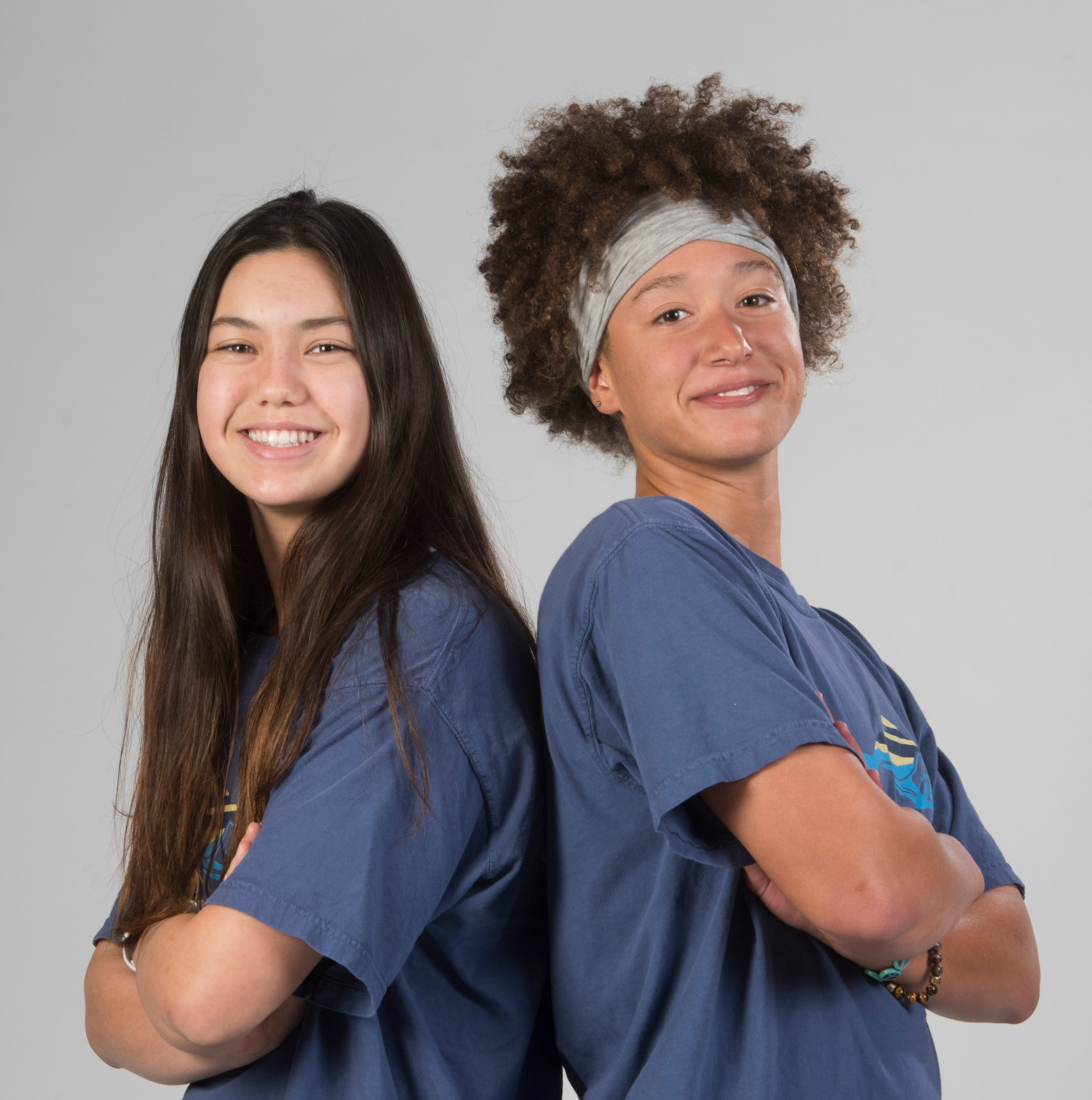 Cali Wilson, and Makayla Ludwick from Gulf Breeze are the Girls co-swimmers of year