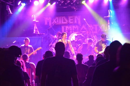 Maiden Immortal, a Pensacola-based Iron Maiden tribute band, performs live.