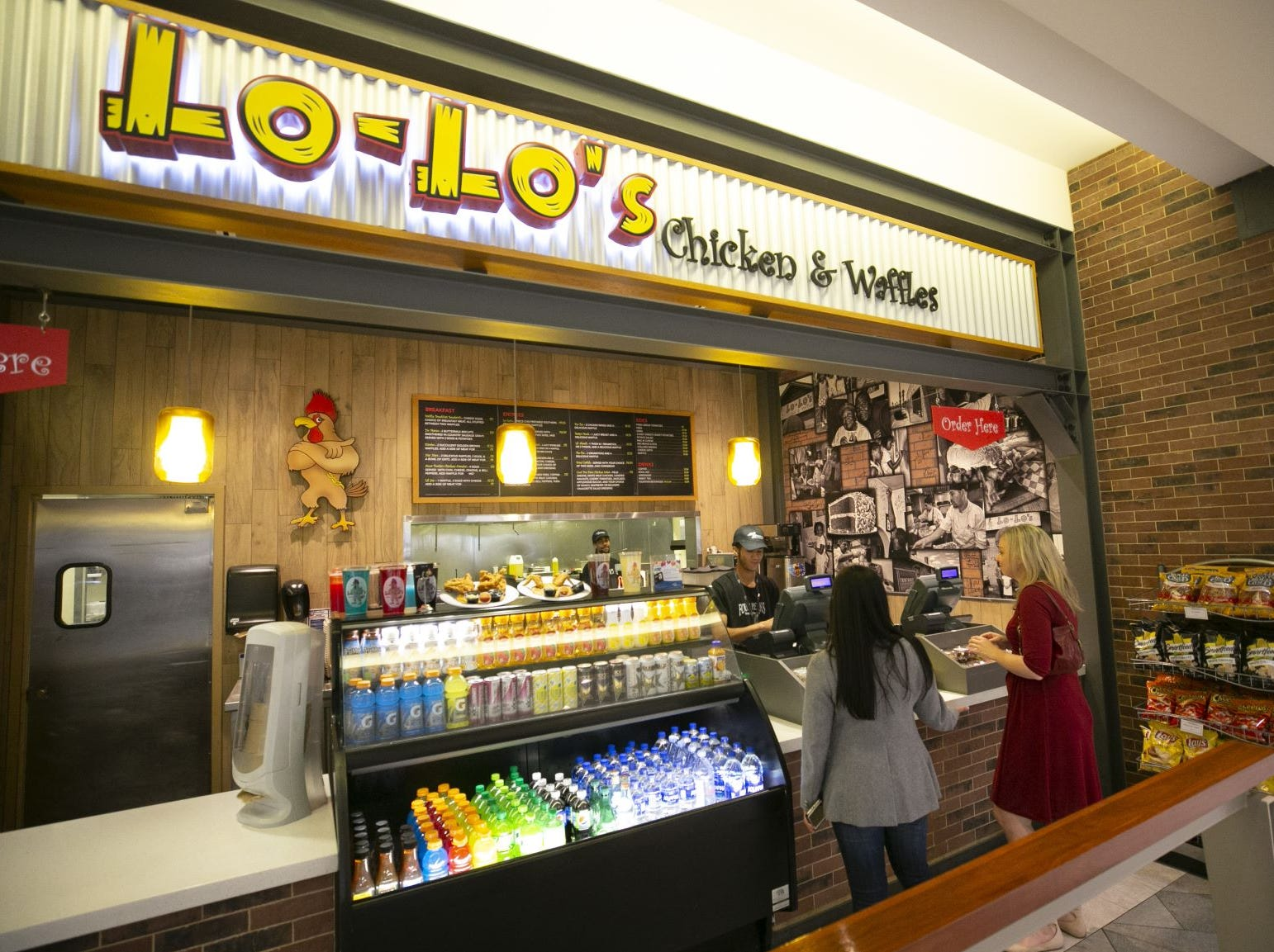 Lo-Lo's Chicken & Waffles in lobby of the third floor of Terminal Four of Phoenix Sky Harbor International Airport on Tuesday, November 13, 2018.