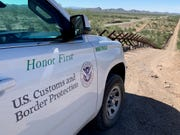Fencing is shown along the Arizona border near Lukeville.