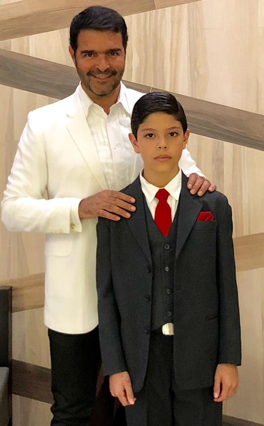 Pablo Montero Y Su Hijo Daniel Cortesia