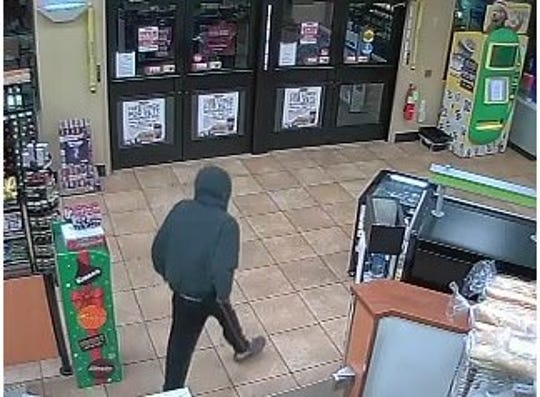 The suspect in an attempted robbery of Sheetz, 811 E. Main St., Palmyra, Nov. 10, 2018.