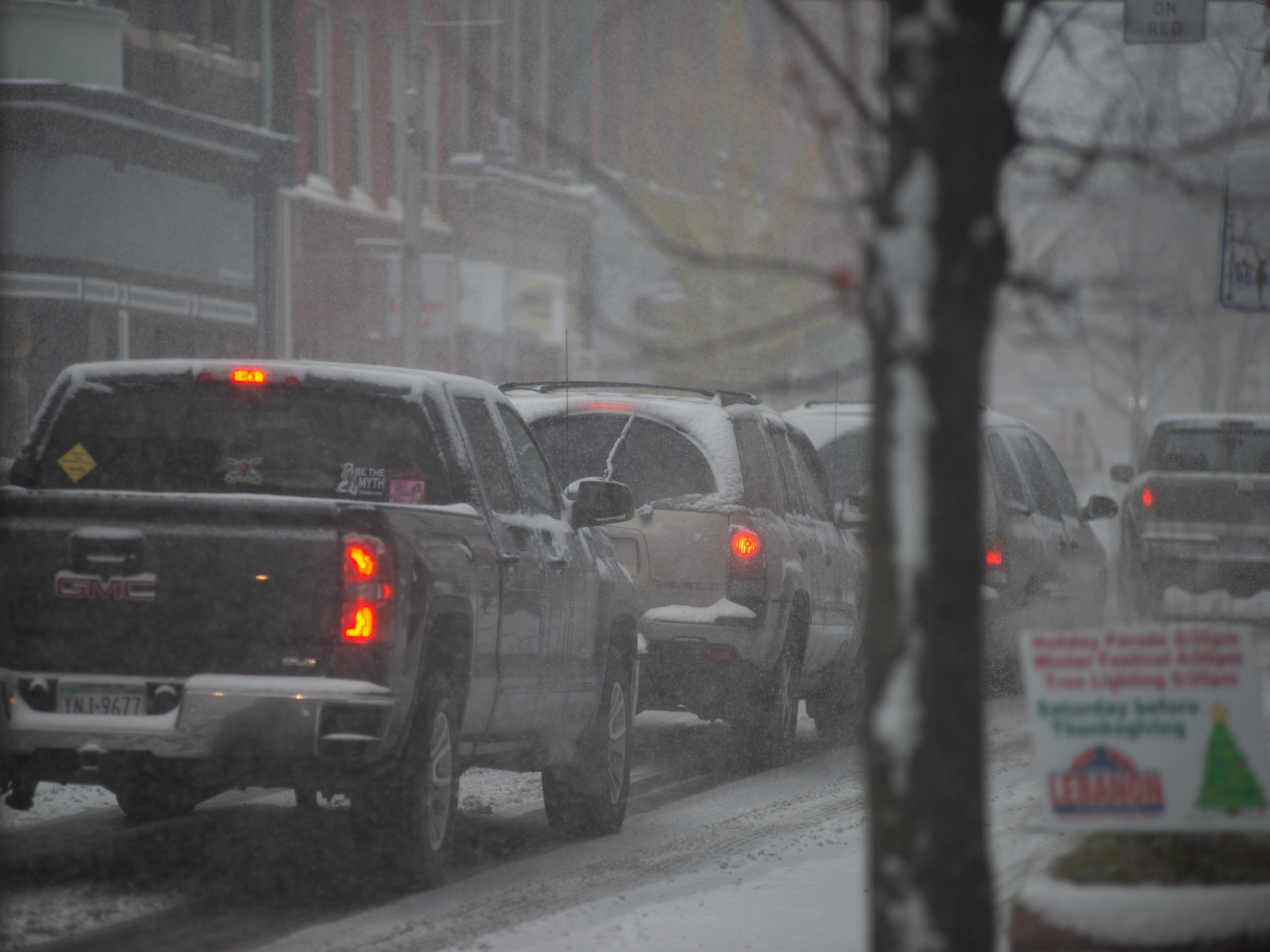 The first snowstorm of the year struck Lebanon and the region on Thursday, Nov. 15, 2018. About 5 to 7 inches of snow, sleet and freezing rain fell, making travel difficult.