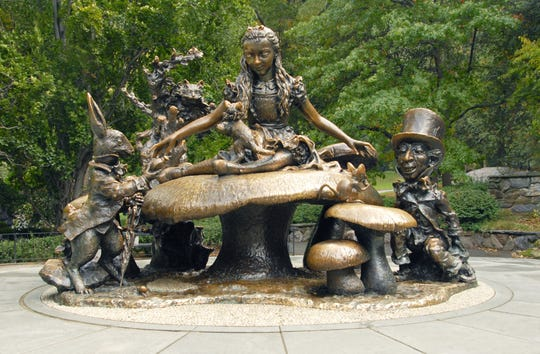 """José de Creeft's """"Alice in Wonderland"""" statue is one of many iconic sculptures in Central Park."""