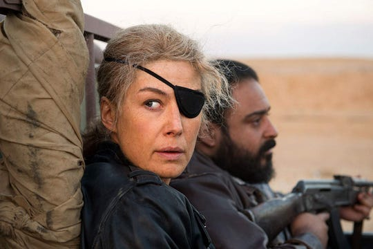 "Rosamund Pike stars in ""A Private War,"" playing at R/C Hanover Movies."