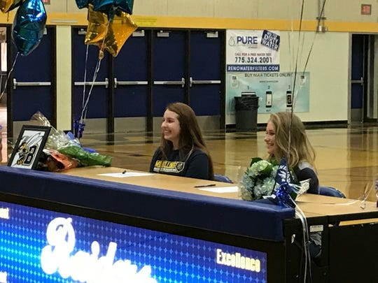 Reed had two students sign on Wednesday,  Shelby Marquardt who will play softball at Montana State-Billings, and Kaitlyn Fleiner who will play women's golf for Nevada.