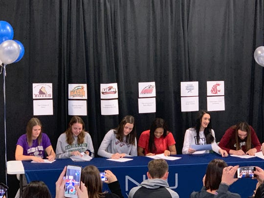 Six volleyball players from NNJ signed for college on Wednesday.