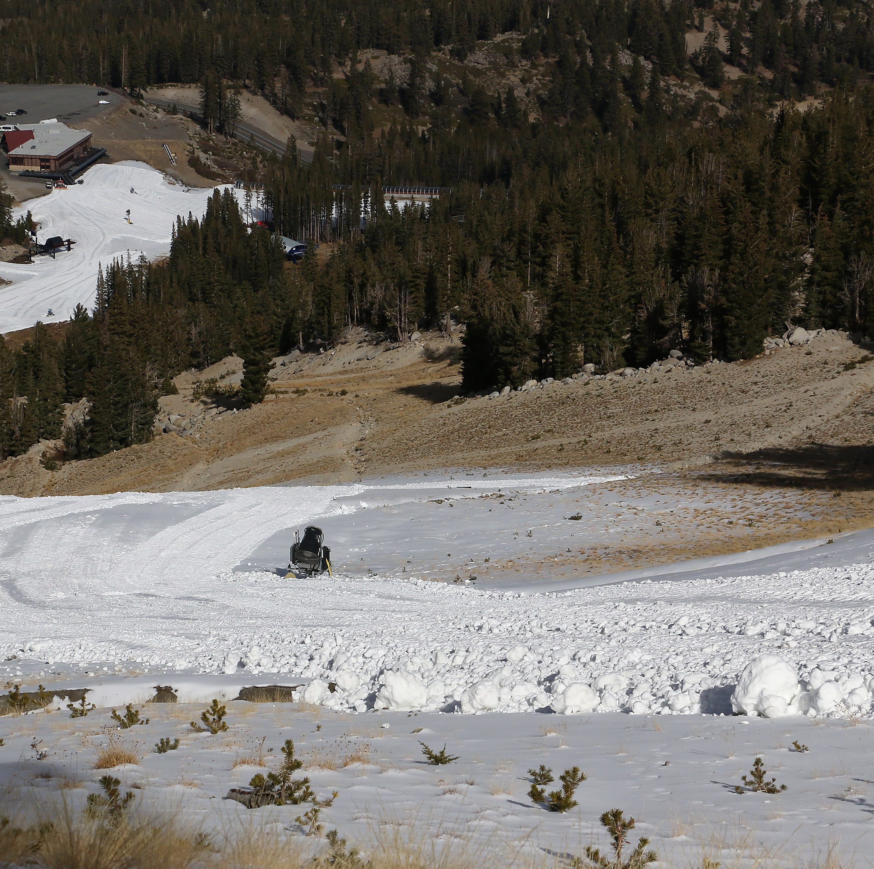 Snowmaking upgrades help Tahoe resorts welcome skiers despite warm, dry conditions