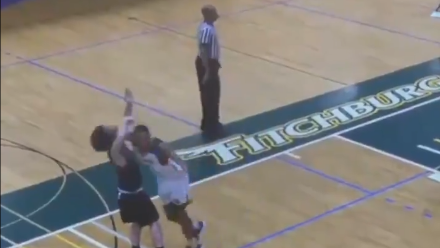 DIII basketball player who threw vicous cheap shot barred from Fitchburg State campus
