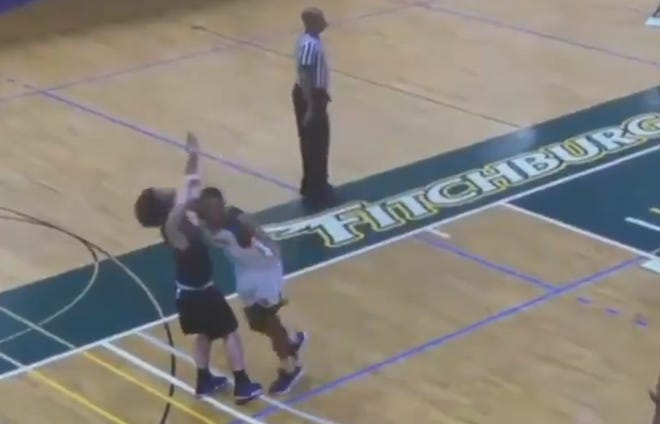 Fitchburg State's Kewan Platt has been suspended indefinitely and barred from campus after hitting an opposing player with a cheap shot.