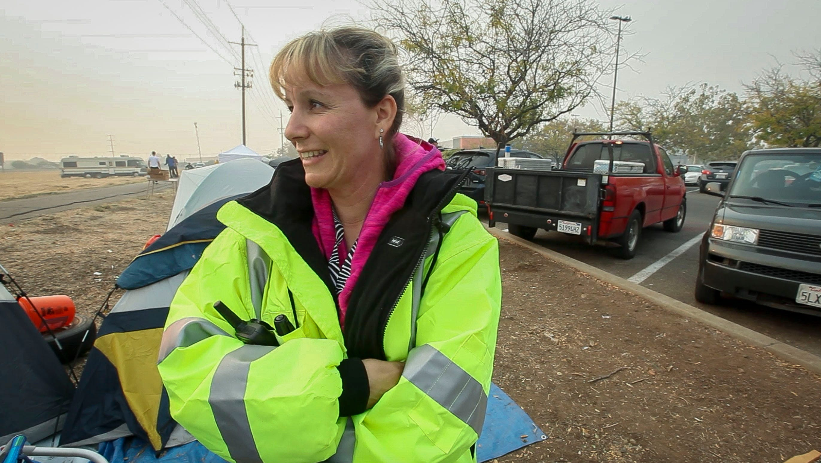 Melissa Contant, of the Bay area of California felt compelled to help out and brought a truckload of supplies for the evacuees of the Camp Fire. She has brought together many services to help people who have taken refuge in a Walmart parking lot in Chico, CA.