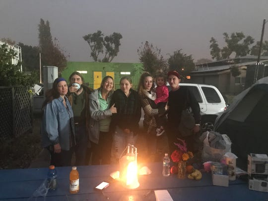 The Heidelberger family ran out of gas, evacuated multiple times and drove through flames to escape the Camp Fire. They're staying at the Red Cross shelter at Butte County Fairgrounds in Gridley.