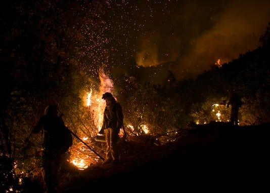Camp Fire Chico Cutte County Control Burn