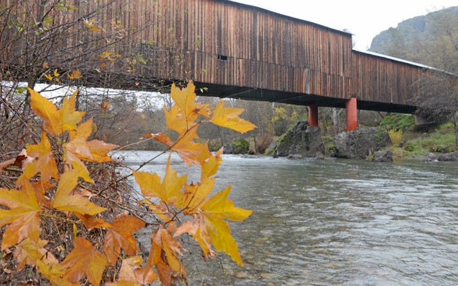 The Honey Run Covered Bridge as shown in December 2016. The historic span was destroyed Nov. 8 in the Camp Fire and an effort is underway to have a replica built in its place.