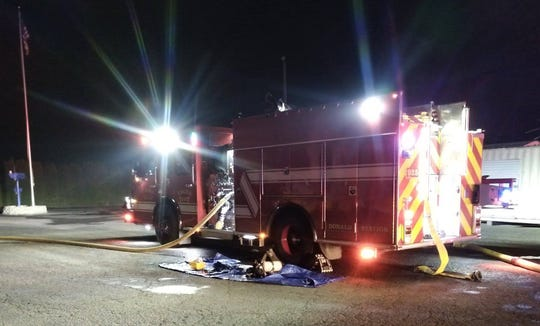 Several fire units responded to a commercial fire Wednesday evening.