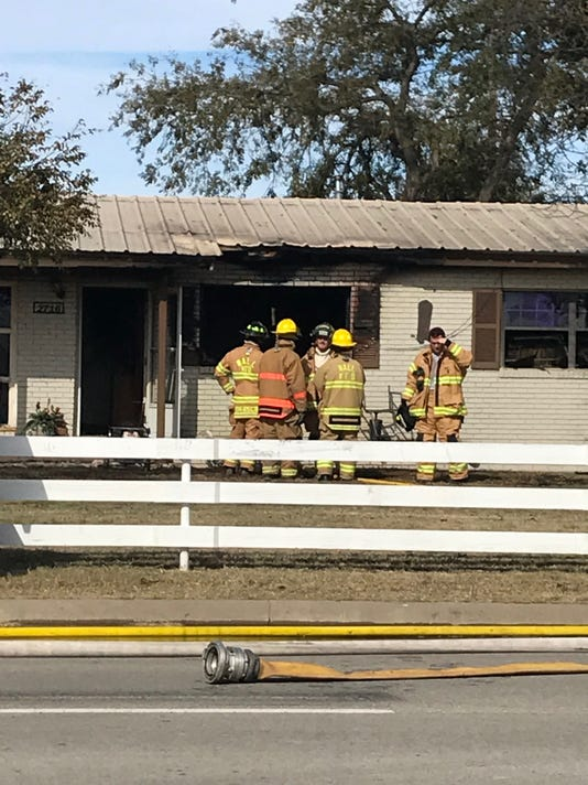 House fire on Paint Rock
