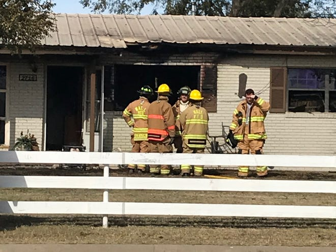Wall and East Concho volunteer firefighters respond to a structure fire in the 2700 block of Paint Rock Road around noon on Nov. 15, 2018.