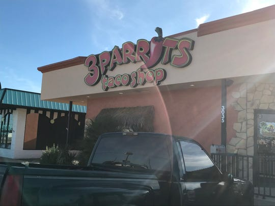 3 Parrots Taco Shop now sits empty after its closure was announced Thursday, Nov. 15, 2018.