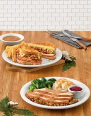 The holiday turkey melt  ($9.79) and turkey dinner ($10.29) are two options from Denny's Festive Flavor menu that will be available on Thanksgiving Day.