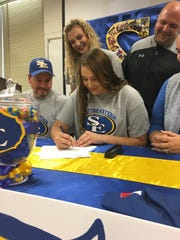 Southwood's Amberlyn Walsworth signs a softball scholarship to Southeastern Oklahoma.