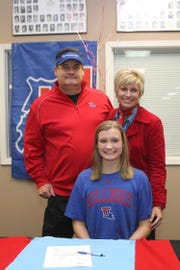 Cedar Creek standout Anna Larr Roberson signed Wednesday with the Lady Techsters in basketball.