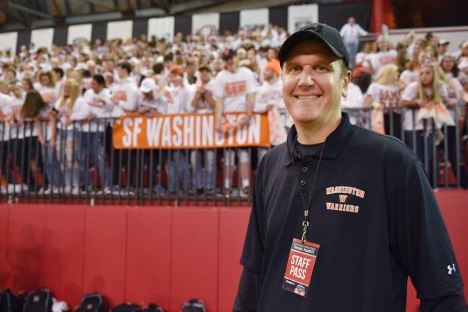 Washington activities director Nate Malchow at the 11AAA championship game Saturday, Nov. 10, at the DakotaDome in Vermillion.