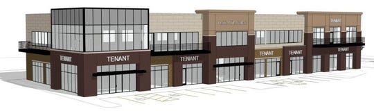 A rendering of the Prairie Hills Galleria, a Lloyd Cos. project heading to 69th and Western.