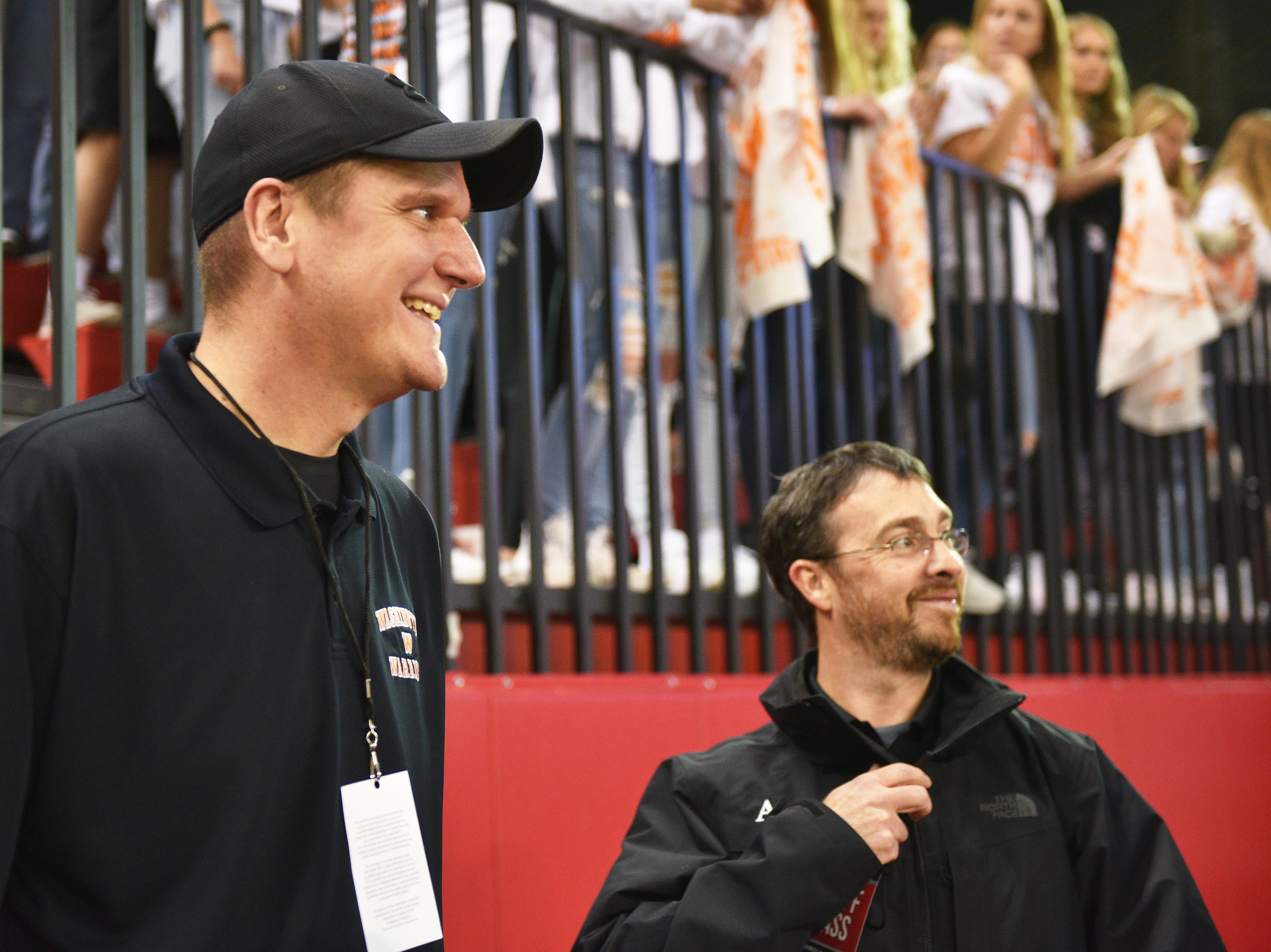 Washington activities director Nate Malchow at the 11AAA championship game Saturday, Nov. 10, at the DakotaDome in Vermillion.