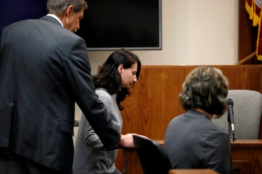 "Gypsy Blanchard takes the stand during the trial of her ex-boyfriend Nicholas Godejohn on Nov. 15, 2018. Godejohn was sentenced to life in prison for fatally stabbing Gypsy's mother, 48-year-old Clauddine ""Dee Dee"" Blanchard, at her Greene County home in June 2015."