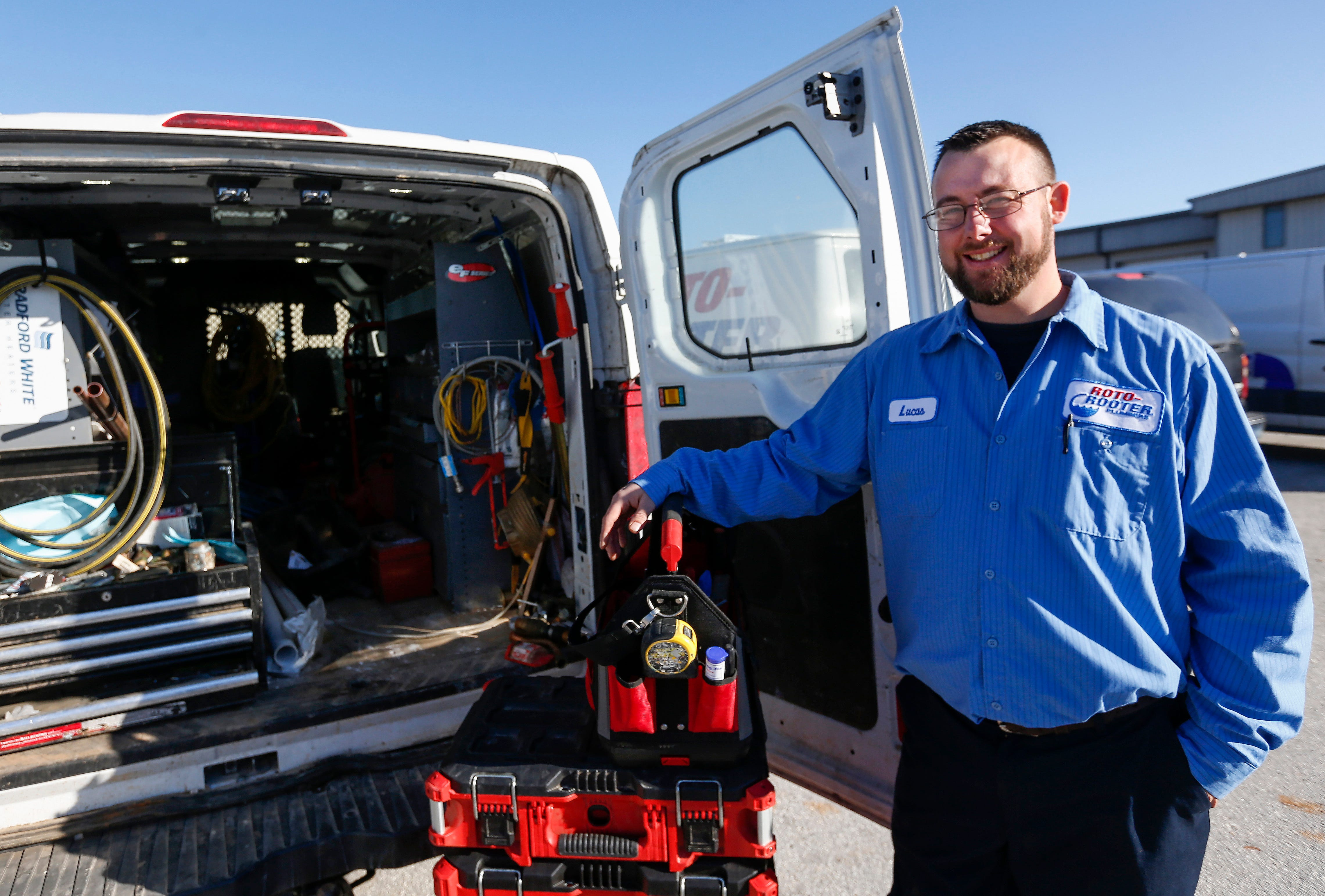 Lucas Thach is a plumber with Roto Rooter Plumbing and Drain Service in Ozark.