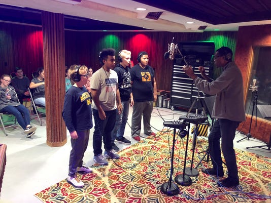 Reed Academy students in studio