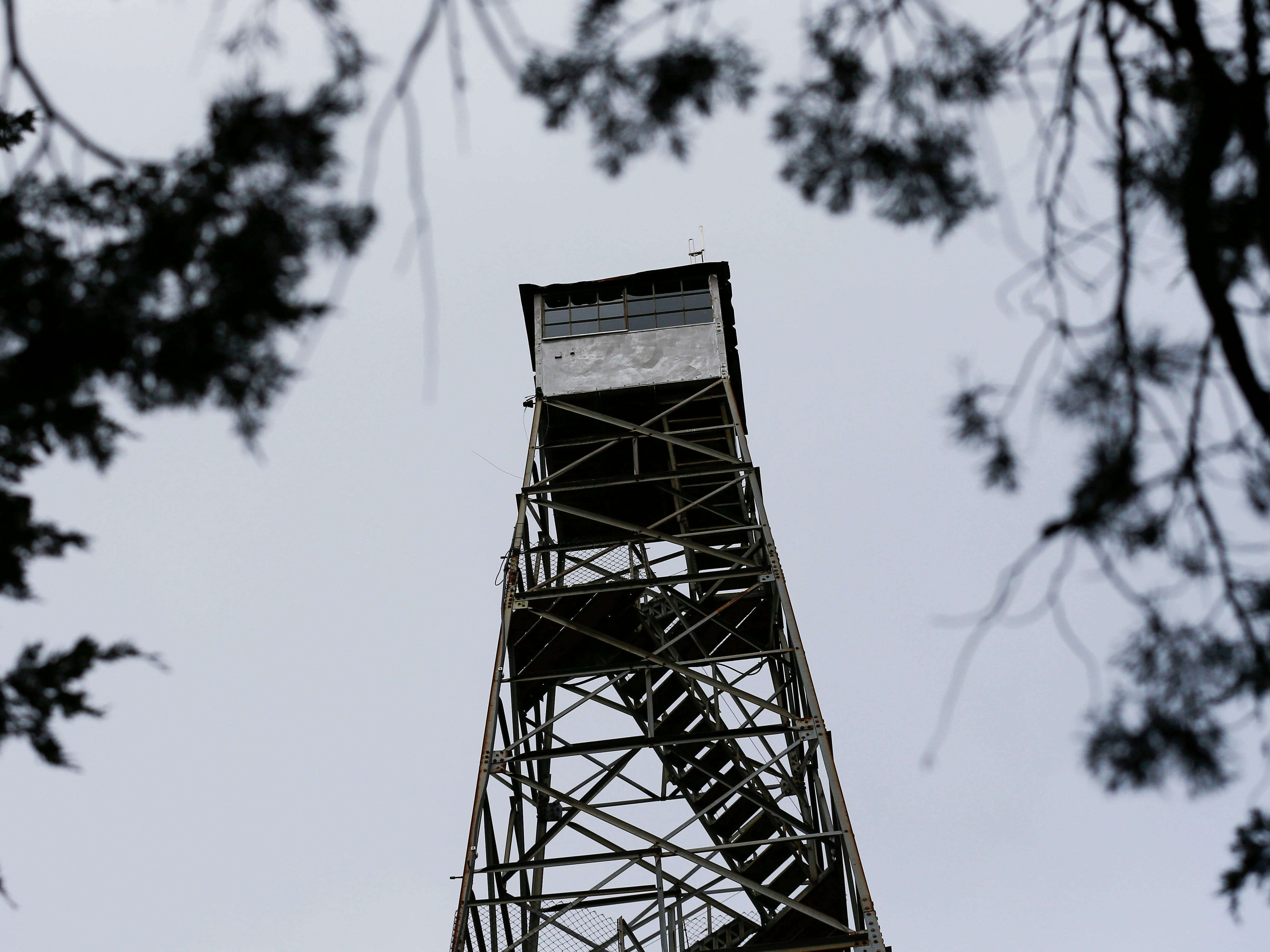 A fire watch tower in the Hercules Glades Wilderness Area on Friday, Nov. 9, 2018.