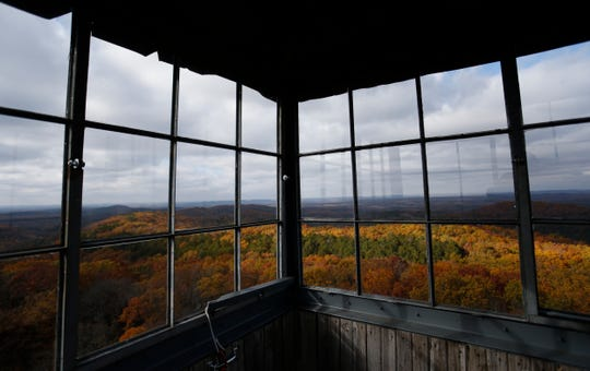 The view from the top of a fire watch tower in the Hercules Glades Wilderness Area on Friday, Nov. 9, 2018.