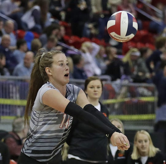 Stratford's Mazie Nagel was named the Marawood Conference volleyball player of the year after she helped the Tigers to an undefeated regular season.