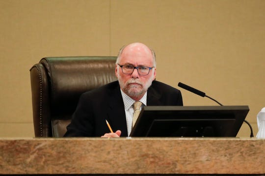 Commissioner Gil Ziffer sits in on his last city commission meeting Wednesday, Nov. 14, 2018.