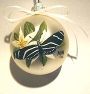 Handpainted Ornament - Margarite White is part of the Island Holiday Festival.