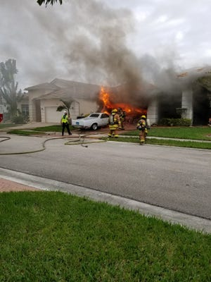 A Port St. Lucie home caught on fire Thursday afternoon in the 700 block of Southwest Myaka River Trace.